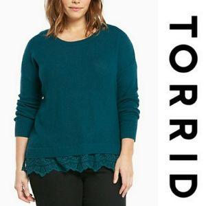 Torrid | Lace Trim Detail Sweater